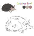 Coloring book hedgehog kids layout for game vector image vector image
