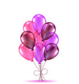composition of pink ballons vector image vector image