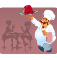 cook with raspberry pudding vector image vector image