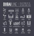 country dubai travel vacation guide of goods vector image vector image