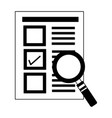 document check mark magnifying glass vector image vector image
