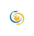 eye vision care logo design template vector image