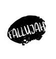 fallujah rubber stamp vector image