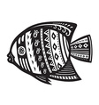 Fish with ornaments in the ethnic style vector image vector image