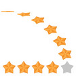 Five star rating different ranks