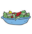 freehand drawn cartoon salad vector image vector image