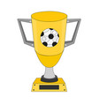 gold trophy football cup vector image vector image