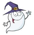Happy Halloween Ghost Flying vector image vector image