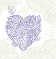 Happy Heart of doodle ornament in zentangle style vector image vector image
