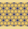 hexagonal seamless pattern in yellow and blue vector image vector image