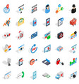 it icons set isometric style vector image vector image