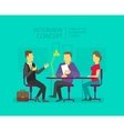 Man to give grant an interview Chat show vector image vector image