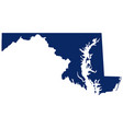 map marylandin blue colour vector image vector image
