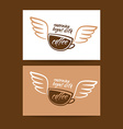 morning begins with coffee cup vector image vector image