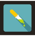 Pipette icon in flat style vector image vector image