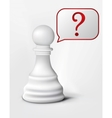 question chess pawn vector image vector image