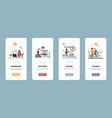 recruitment onboarding app hiring employee and vector image vector image