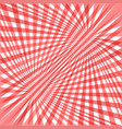 red curved ray burst background - design from vector image vector image