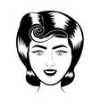 retro woman smiling vector image vector image
