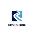 riverstone blue flat logo sign symbol icon vector image