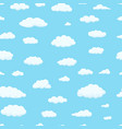 seamless pattern clouds different shapes in vector image