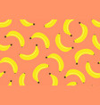 seamless pattern with banana vector image vector image