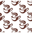 Seamless pattern with steaming coffee cups vector image