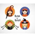 set 16 halloween costume characters and kids vector image