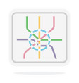 subway map flat isolated on white vector image vector image