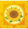 Sun flower vector image vector image
