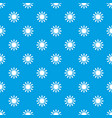 sun pattern seamless blue vector image vector image