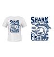 t-shirt print with hammer head shark mascot vector image