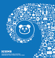 Teddy Bear icon sign Nice set of beautiful icons vector image vector image