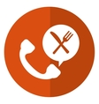 telephone food ordering delivery service shadow vector image