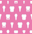 tooth seamless pattern four different types of vector image vector image