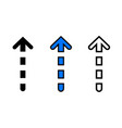 up arrow icon vector image vector image