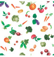 Vegetables and roots pattern vector image