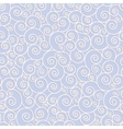 White swirls on blue background seamless pattern vector image