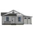 White wooden house vector image vector image