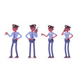 young black police officers working vector image vector image