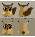 Cartoon squirrel and owl front and back vector image