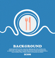 Eat sign icon Cutlery symbol Fork and knife Blue vector image