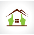 Hand make a home icon vector image