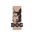 logo template with angry dog vector image