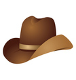 Brown cowboy hat vector image