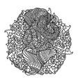 lord ganesha on indian mandala background asian vector image