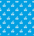 100 percent natural pattern seamless blue vector image vector image