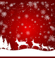 a christmas design with reindeer trees gifts and vector image vector image