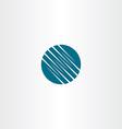 abstract tech dark blue logo symbol element vector image