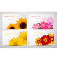 Banners with different colorful flowers vector | Price: 1 Credit (USD $1)